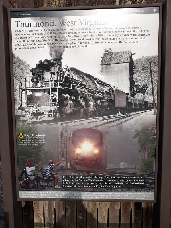 Thurmond, West Virginia Marker image. Click for full size.