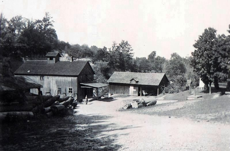 Grist Mill & Saw Mill from Mill Rd. image. Click for full size.