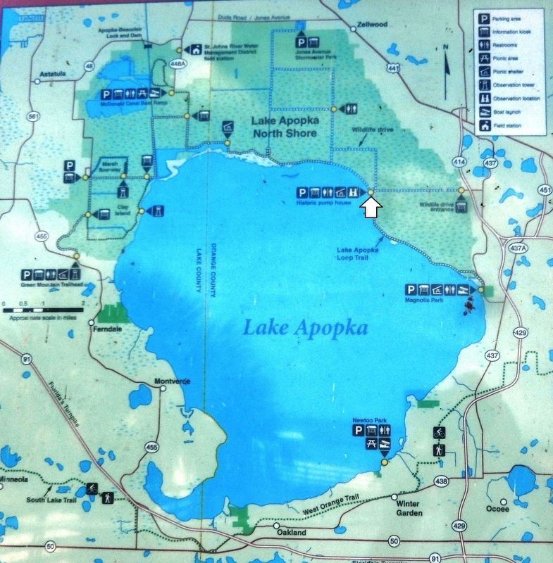 Marker detail: Lake Apopka Map image. Click for full size.