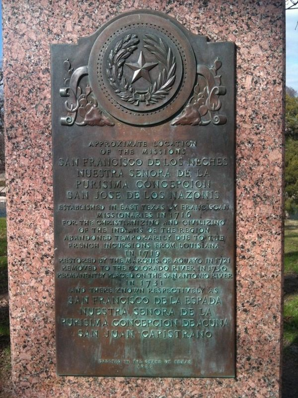 Approximate Location of the Missions Marker image. Click for full size.