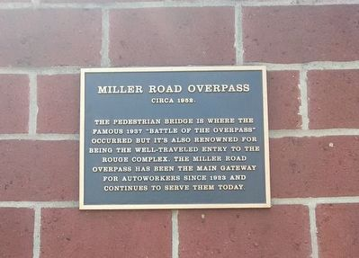 Miller Road Overpass Marker image. Click for full size.