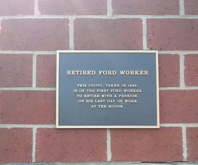 Retired Ford Worker Marker image. Click for full size.
