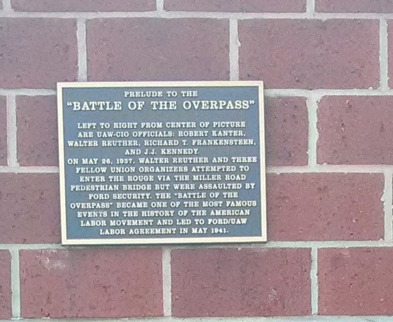 "Prelude To The ""Battle of the Overpass"" Marker image. Click for full size."