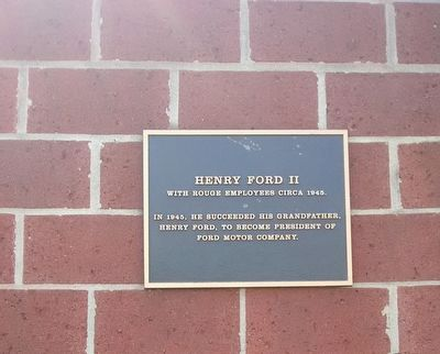Henry Ford II Marker image. Click for full size.