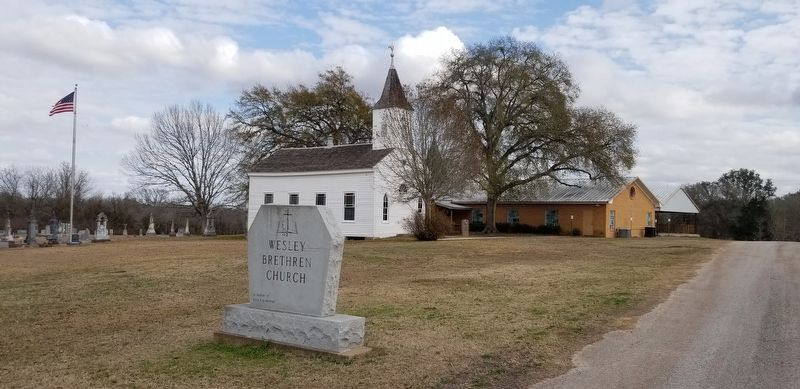 Wesley Brethren Church Marker image. Click for full size.