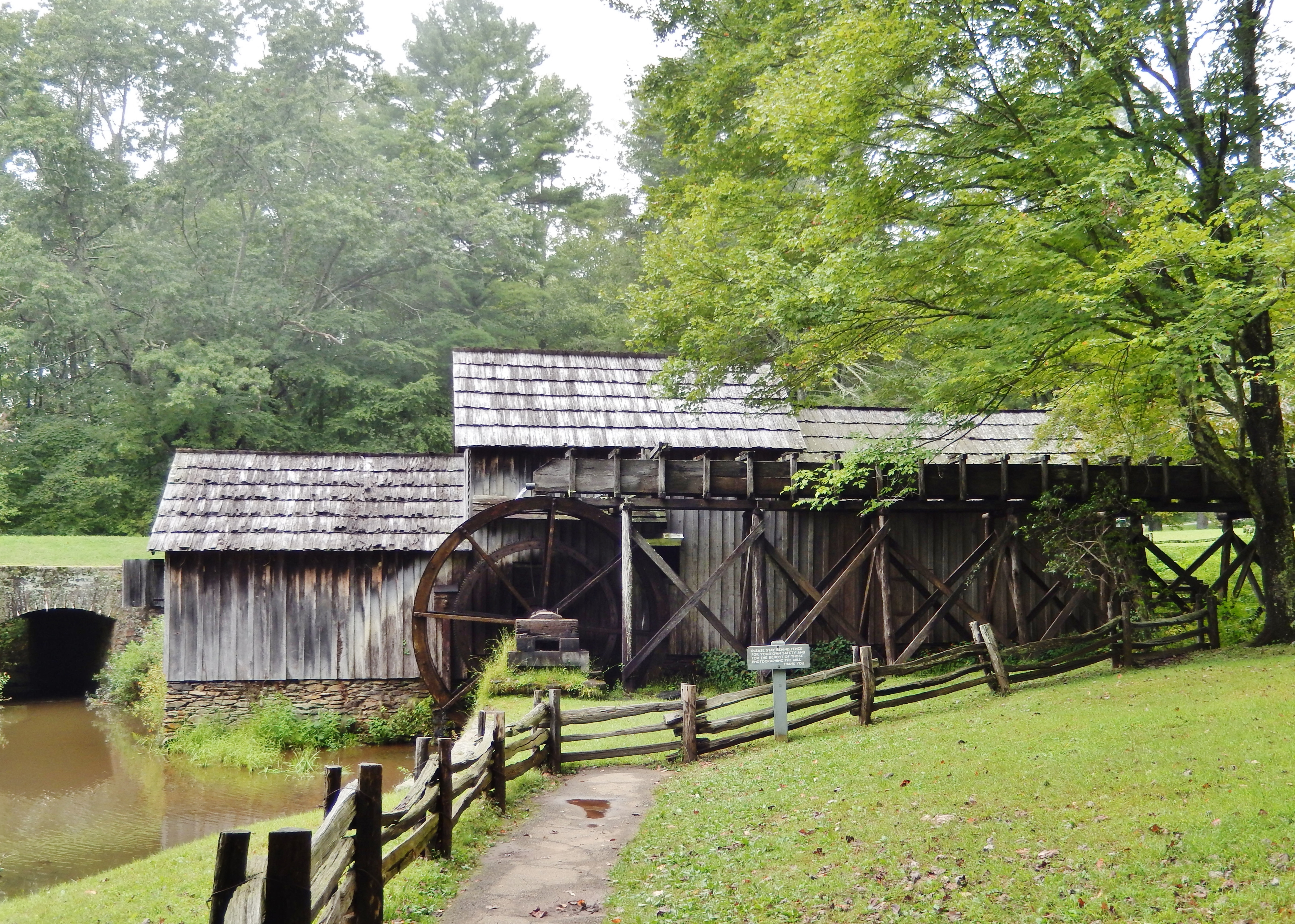 Mabry Mill Waterwheel and Water Supply Flume