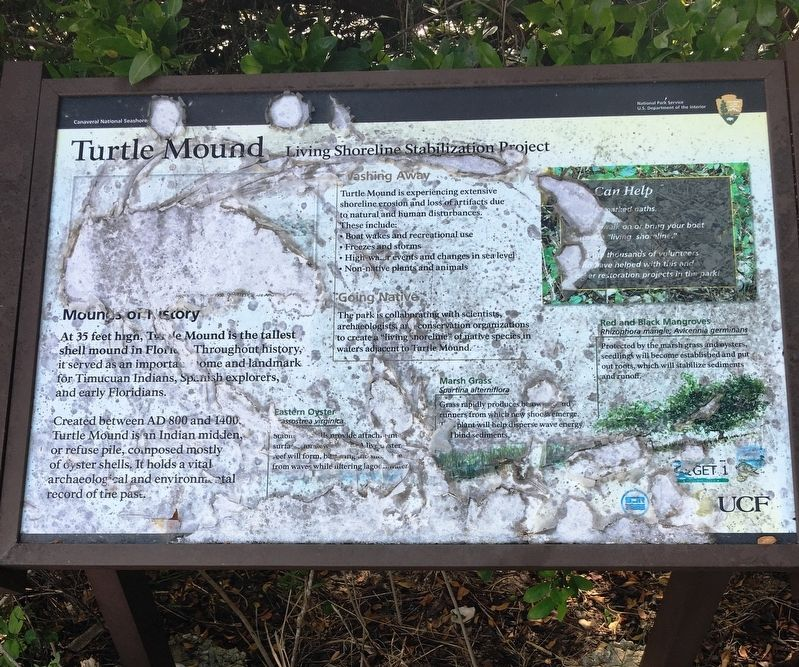 Turtle Mound Marker image. Click for full size.