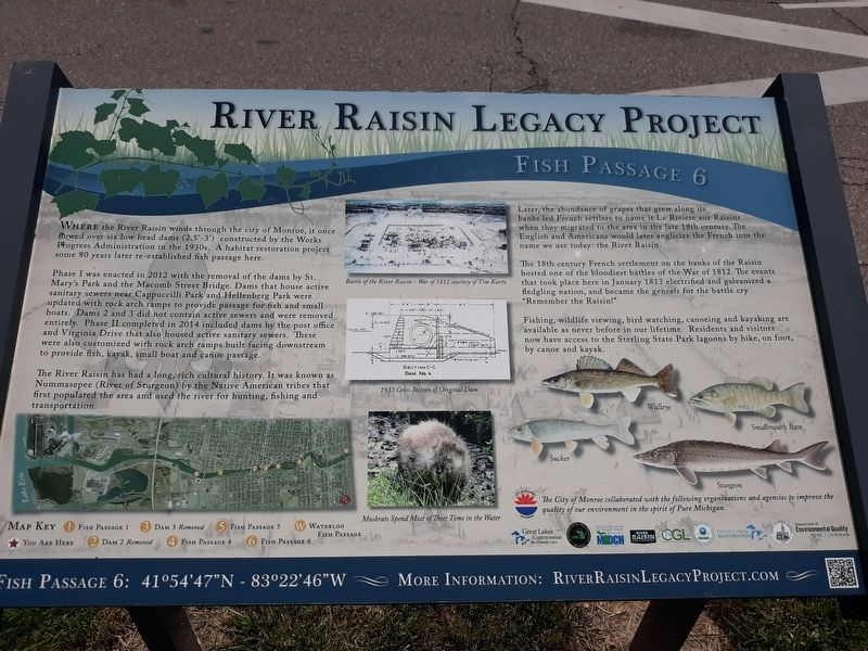 River Raisin Legacy Project Marker image. Click for full size.