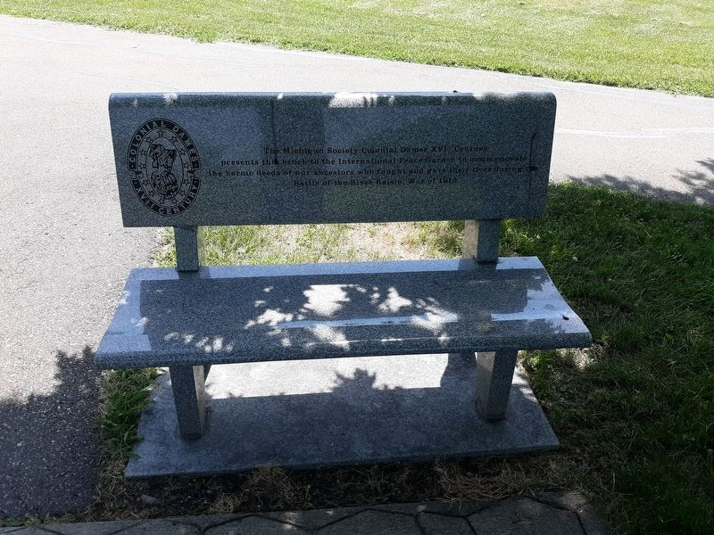Battle of the River Raisin Memorial Bench Marker image. Click for full size.