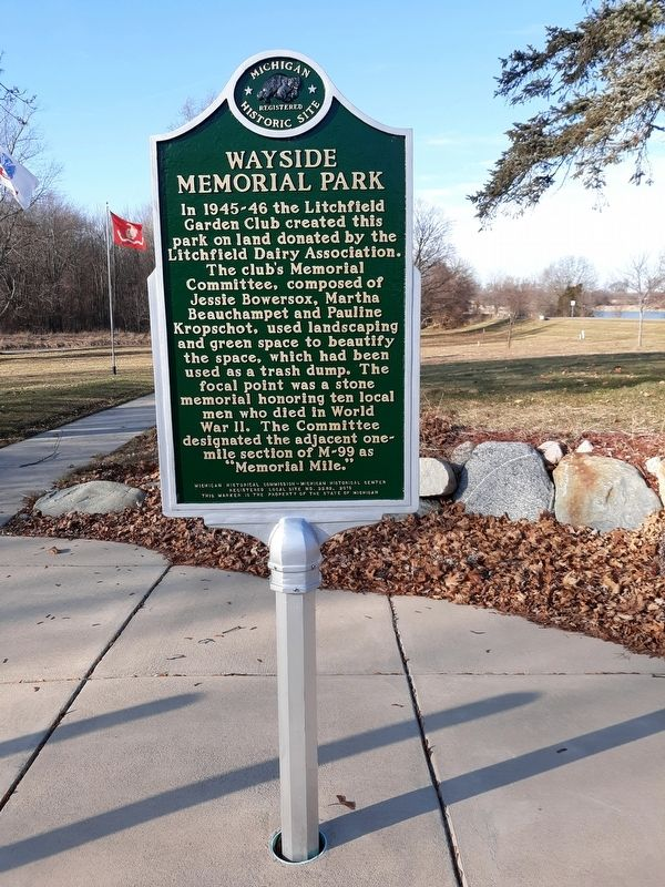 Wayside Memorial Park Marker image. Click for full size.