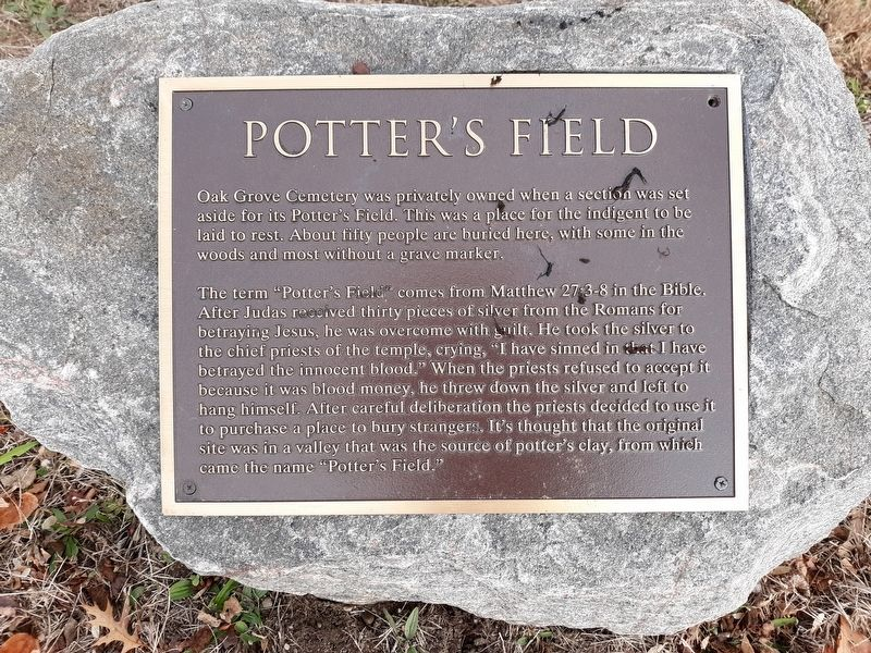 Potter's Field Marker image. Click for full size.