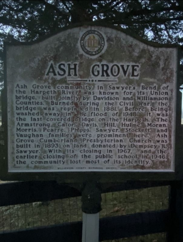 Ash Grove Marker image. Click for full size.