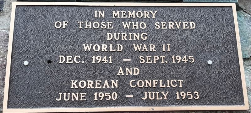 WWII - Korean Conflict Memorial image. Click for full size.