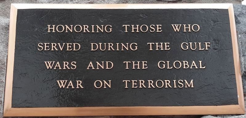 Gulf War & Global War on Terrorism Memorial image. Click for full size.