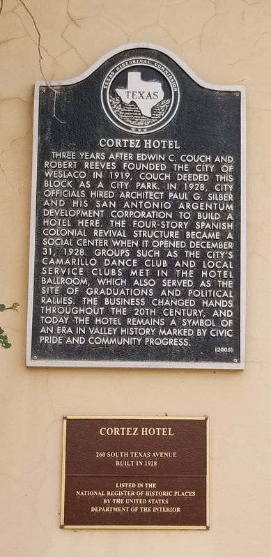 Cortez Hotel Marker image. Click for full size.