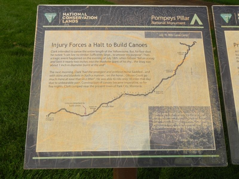 Injury Forces a Halt to Build Canoes Marker image. Click for full size.