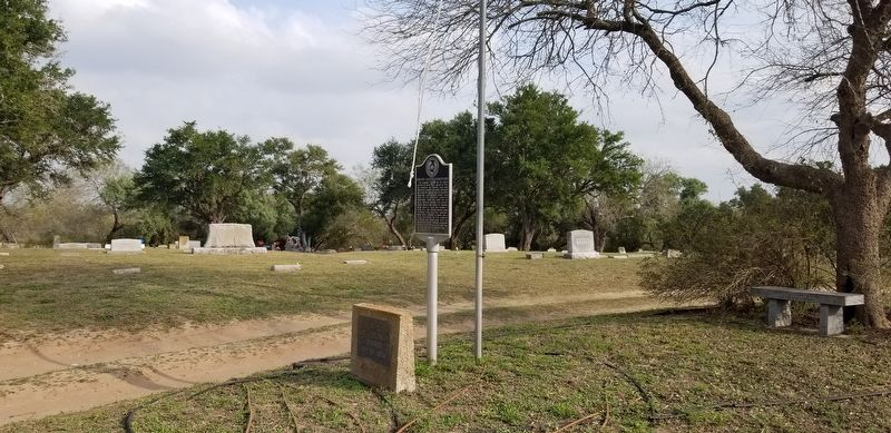 Ebony Grove Cemetery and Marker image. Click for full size.