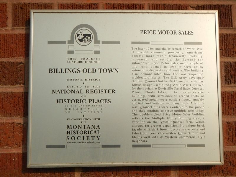 Price Motor Sales Marker image. Click for full size.