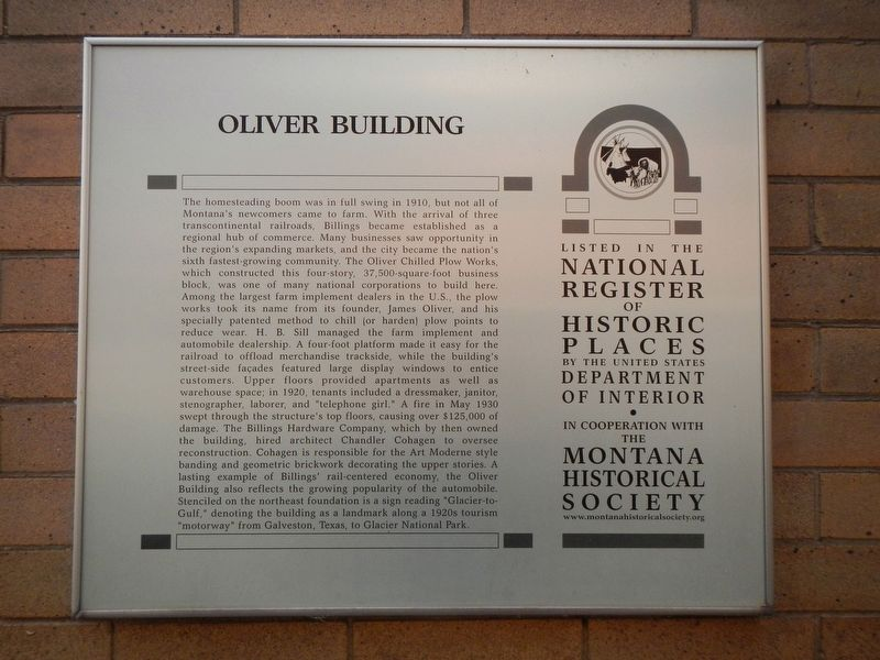 Oliver Building Marker image. Click for full size.