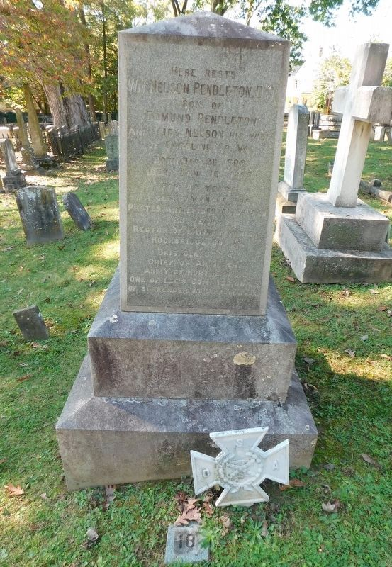 Grave of General William Pendleton, CSA image. Click for full size.