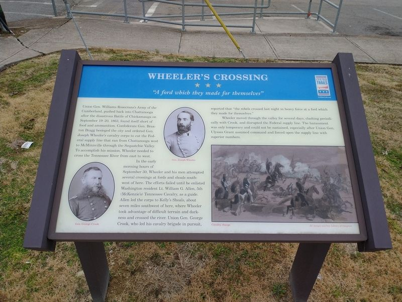 Wheeler's Crossing Marker image. Click for full size.