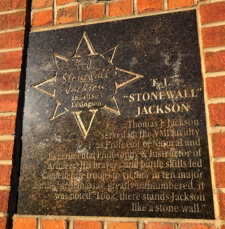 "T.J. ""Stonewall"" Jackson Marker image. Click for full size."