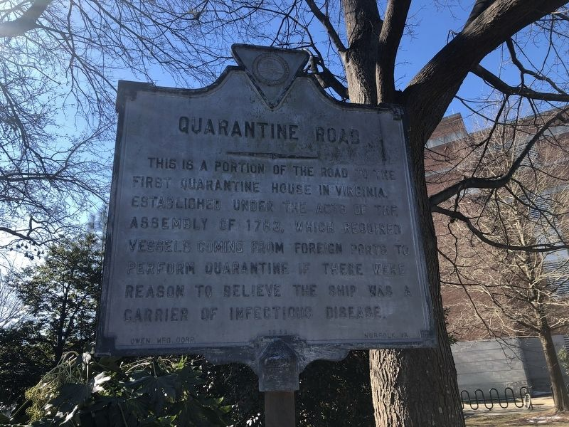 Quarantine Road Marker image. Click for full size.