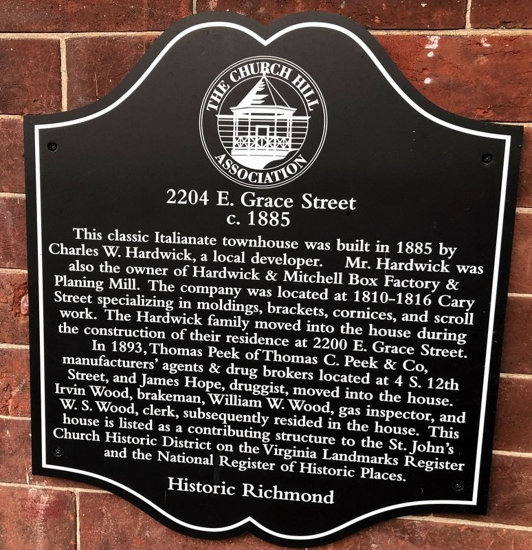 2204 E. Grace Street Marker image. Click for full size.