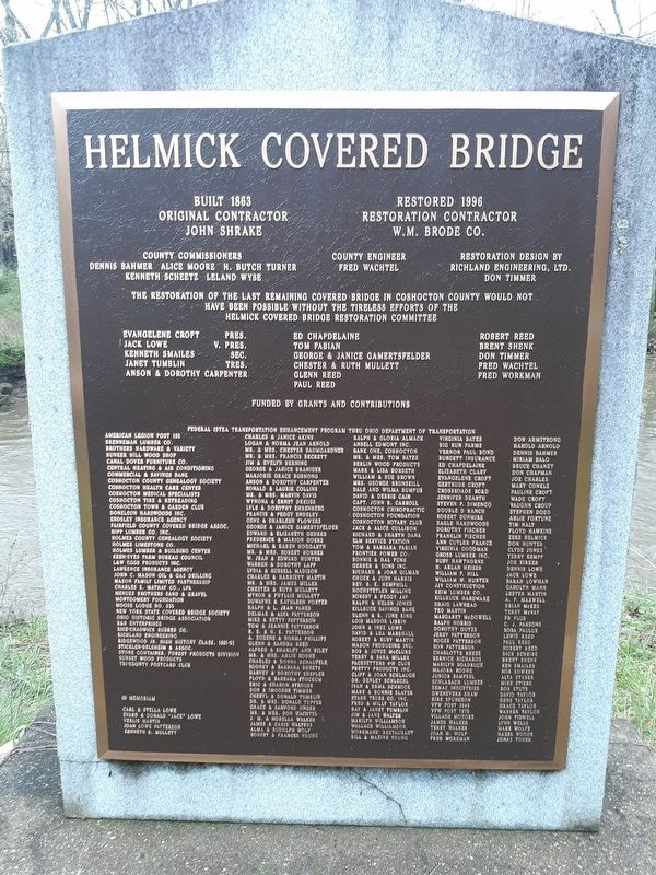 Helmick Covered Bridge Marker image. Click for full size.