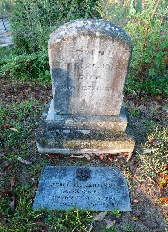 Grave of Confederate General George Crittenden image. Click for full size.