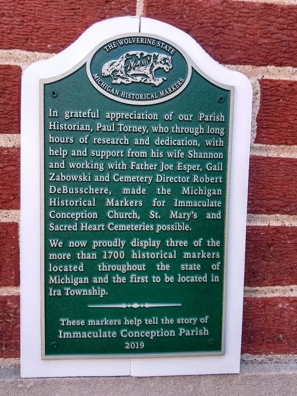 Paul Torney and Michigan Historical Markers Marker image. Click for full size.