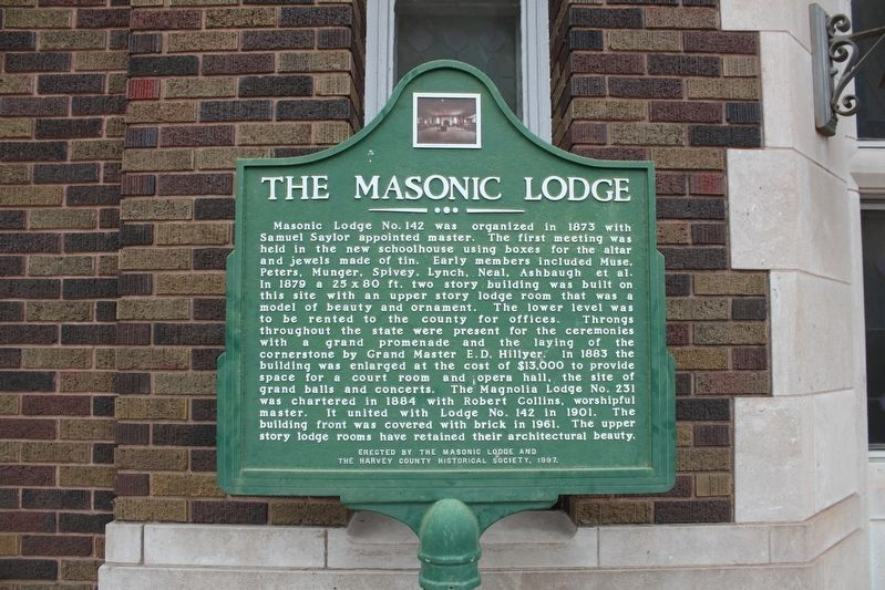 The Masonic Lodge Marker image. Click for full size.
