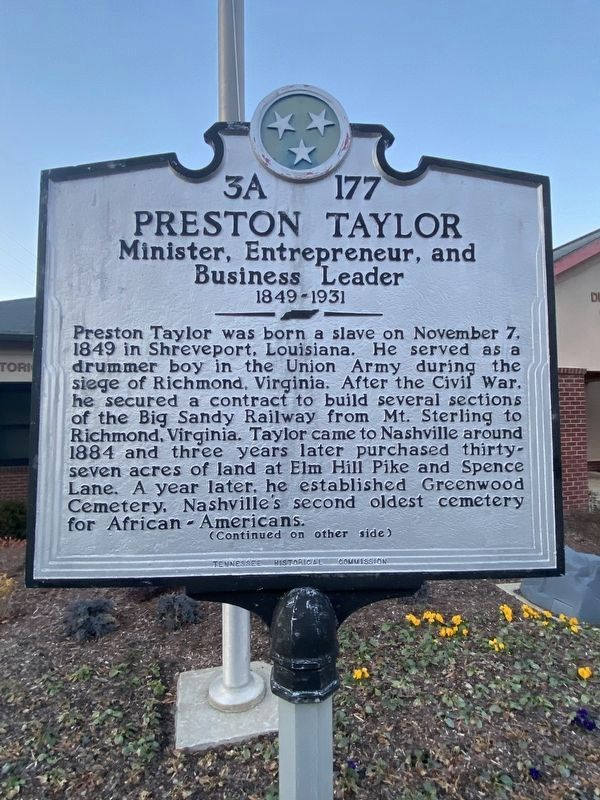 Preston Taylor Marker image. Click for full size.