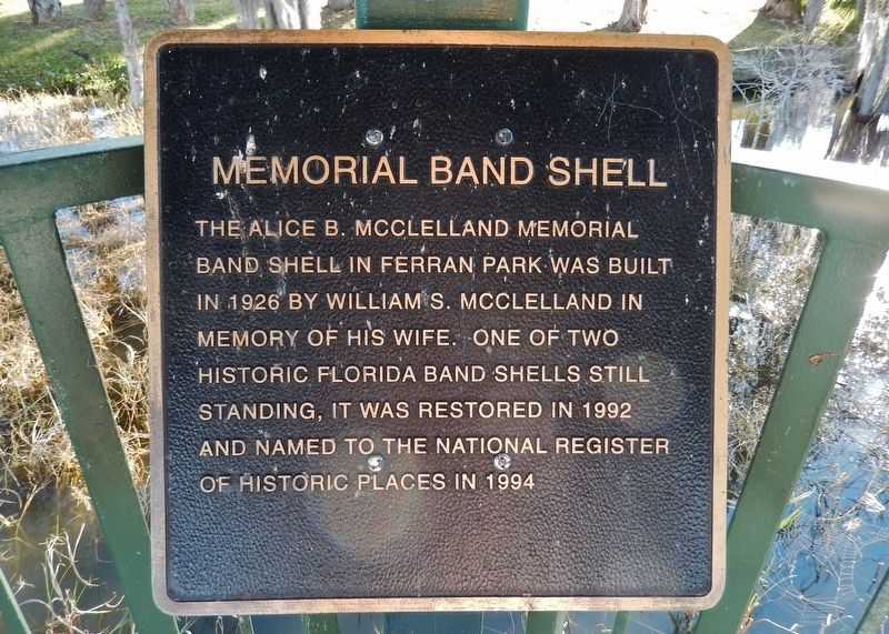 Memorial Band Shell Marker image. Click for full size.