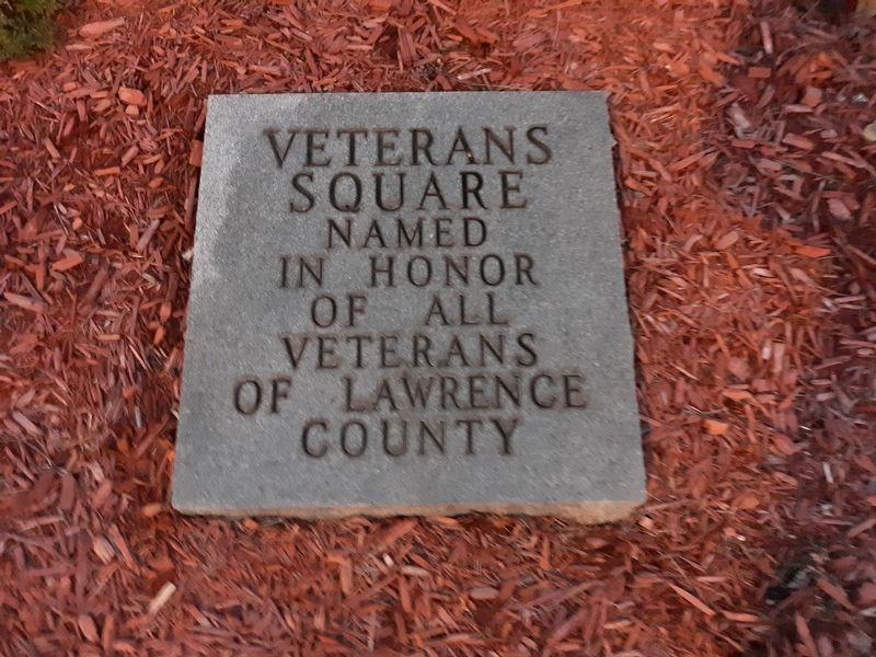 Lawrence County Veterans Square Marker image. Click for full size.