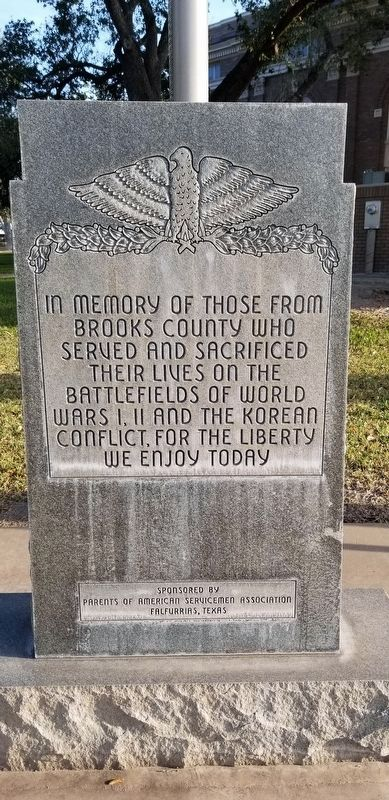 Brooks County War Memorial image. Click for full size.