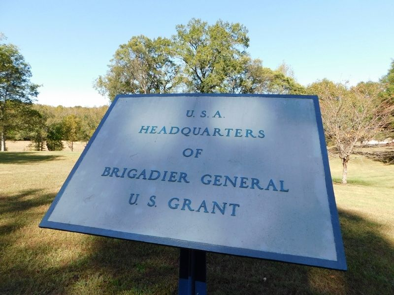 U.S.A. Headquarters of Brigadier General U.S. Grant Marker image. Click for full size.