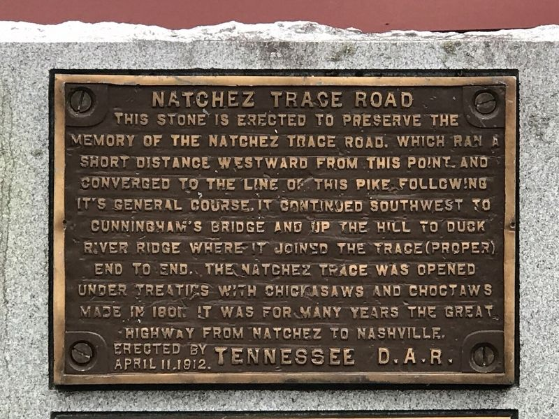 Natchez Trace Road Marker image. Click for full size.
