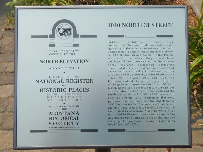 1040 North 31 Street Marker image. Click for full size.