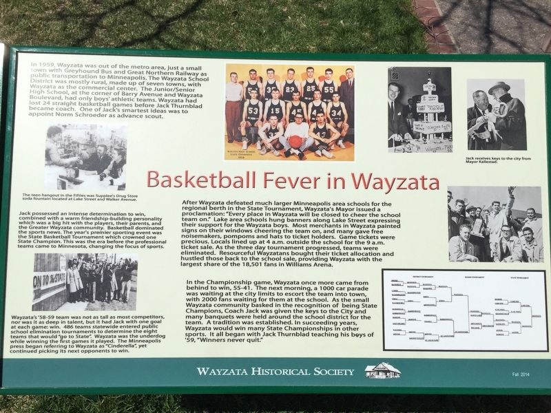 Basketball Fever in Wayzata Marker image. Click for full size.