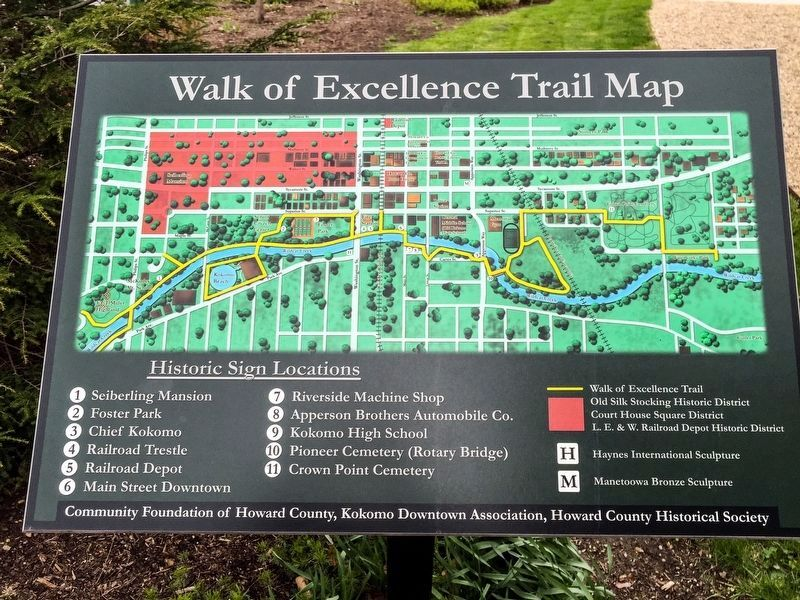 Walk of Excellence Trail Map image. Click for full size.