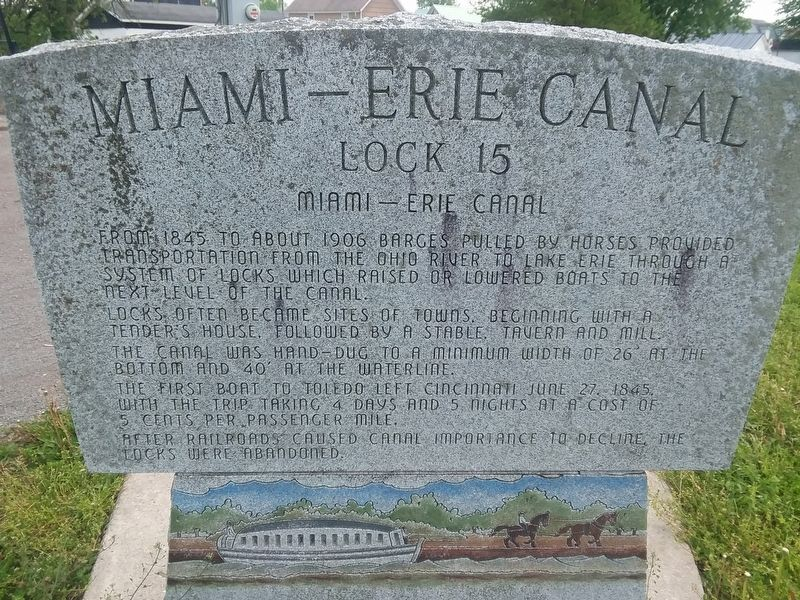 Miami-Erie Canal Marker image. Click for full size.