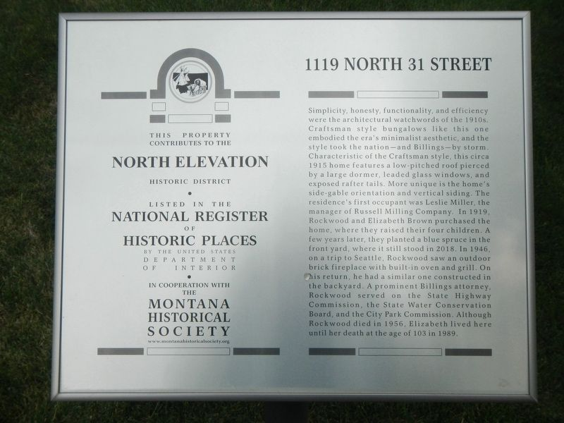 1119 North 31 Street Marker image. Click for full size.