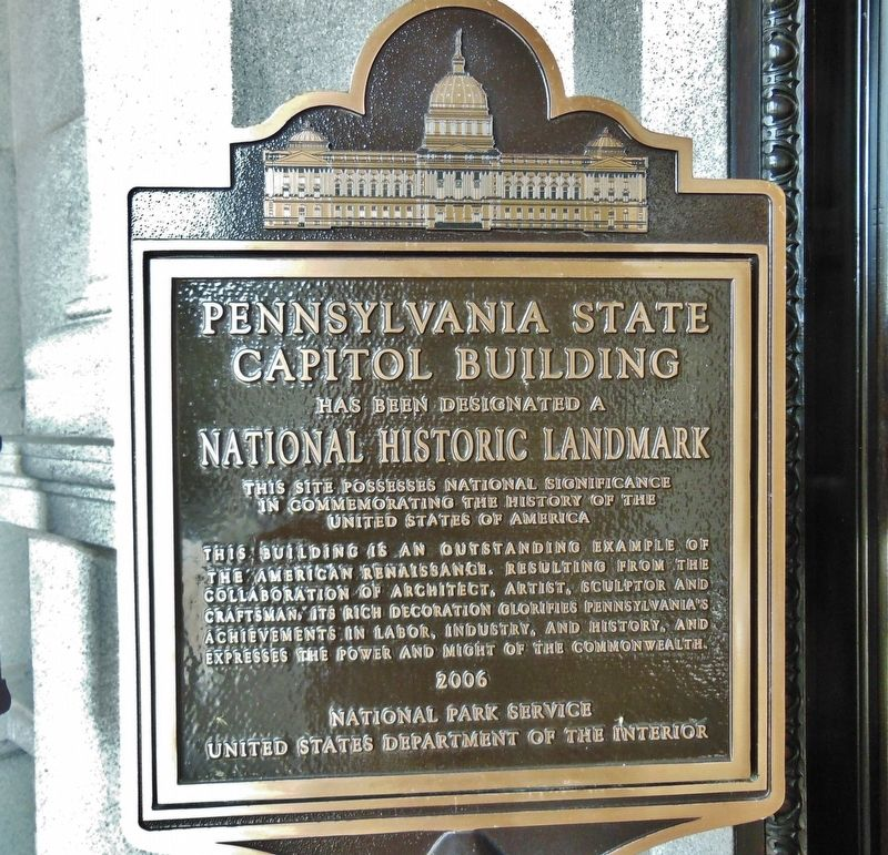 Pennsylvania State Capitol Building Marker image. Click for full size.