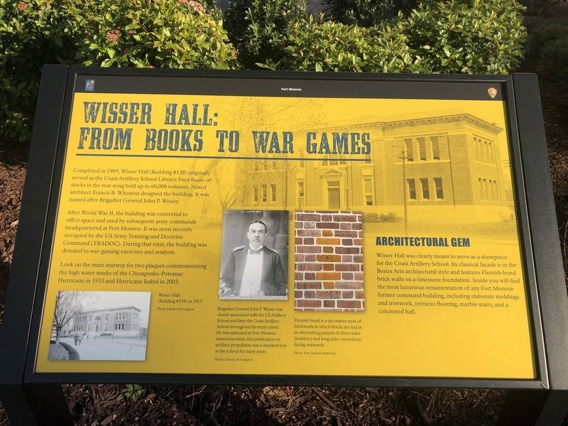 Wisser Hall: From Books To War Games Marker image. Click for full size.