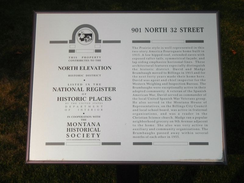 901 North 32 Street Marker image. Click for full size.