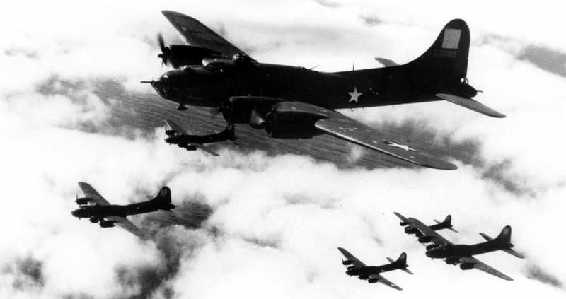 96 Bomb Group B-17s image. Click for full size.