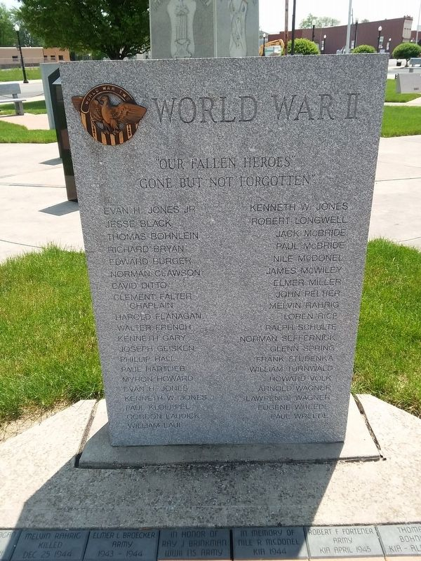 Delphos World War II Memorial image. Click for full size.