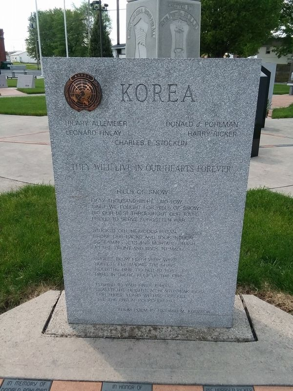 Delphos Korea War Memorial image. Click for full size.