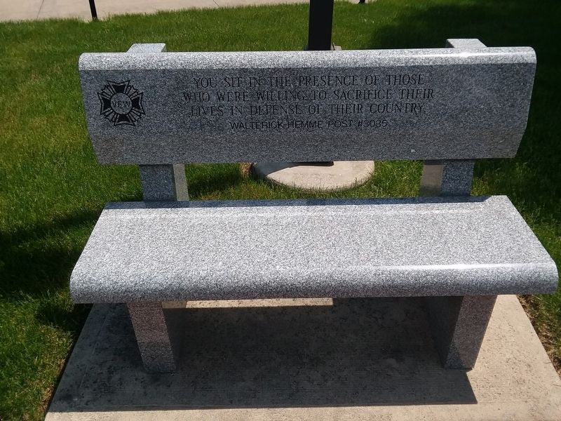 VFW Veterans Memorial Bench Marker image. Click for full size.